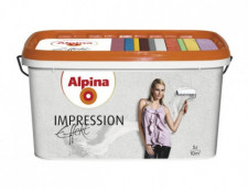 ALPINA Effekt Impression белая структурная краска для структурно-выраженных интерьеров 10л