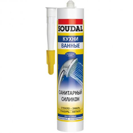 Герметик SOUDAL силікон. санітарний (білий) 300мл