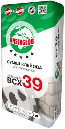 ANSERGLOB BCX-39 клей для пінопласту 25кг