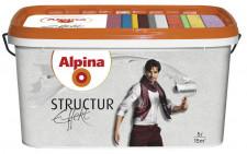 ALPINA Effekt Structur белая структурная краска с кварцевым песком 10л