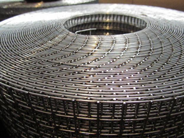 Сетка сварная 12х12-0.8 мм оцинкованная 1 м
