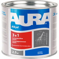 AURA Грунт-емаль 3 в 1 (біла) 2,5кг