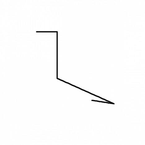 ПЛАНКА ПП-1 (примыкание) КРАСНАЯ