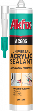 Герметик Akfix AC605 акрил. (білий) 310мл