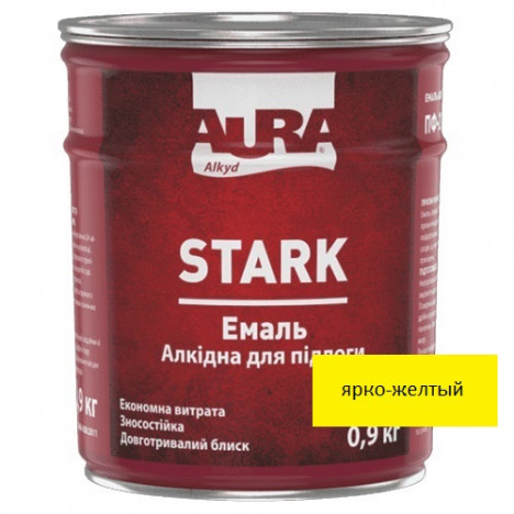 Эмаль алкидная AURA Stark (ярко-желтый) 0,9кг