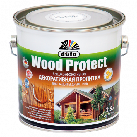 Лазурь Wood Protect Düfa (каштан) 0,75л