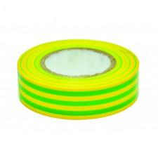 Изолента ПВХ 19мм х 20мм зелено-желтая