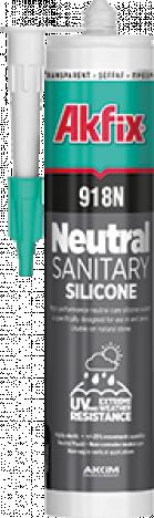 Силикон AKFIX 918N нейтральный санитарный (прозрачный) 310мл
