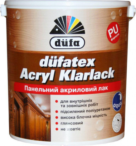 DÜFA düfatex Acryl Klarlack Панельний акриловий лак 2,5л