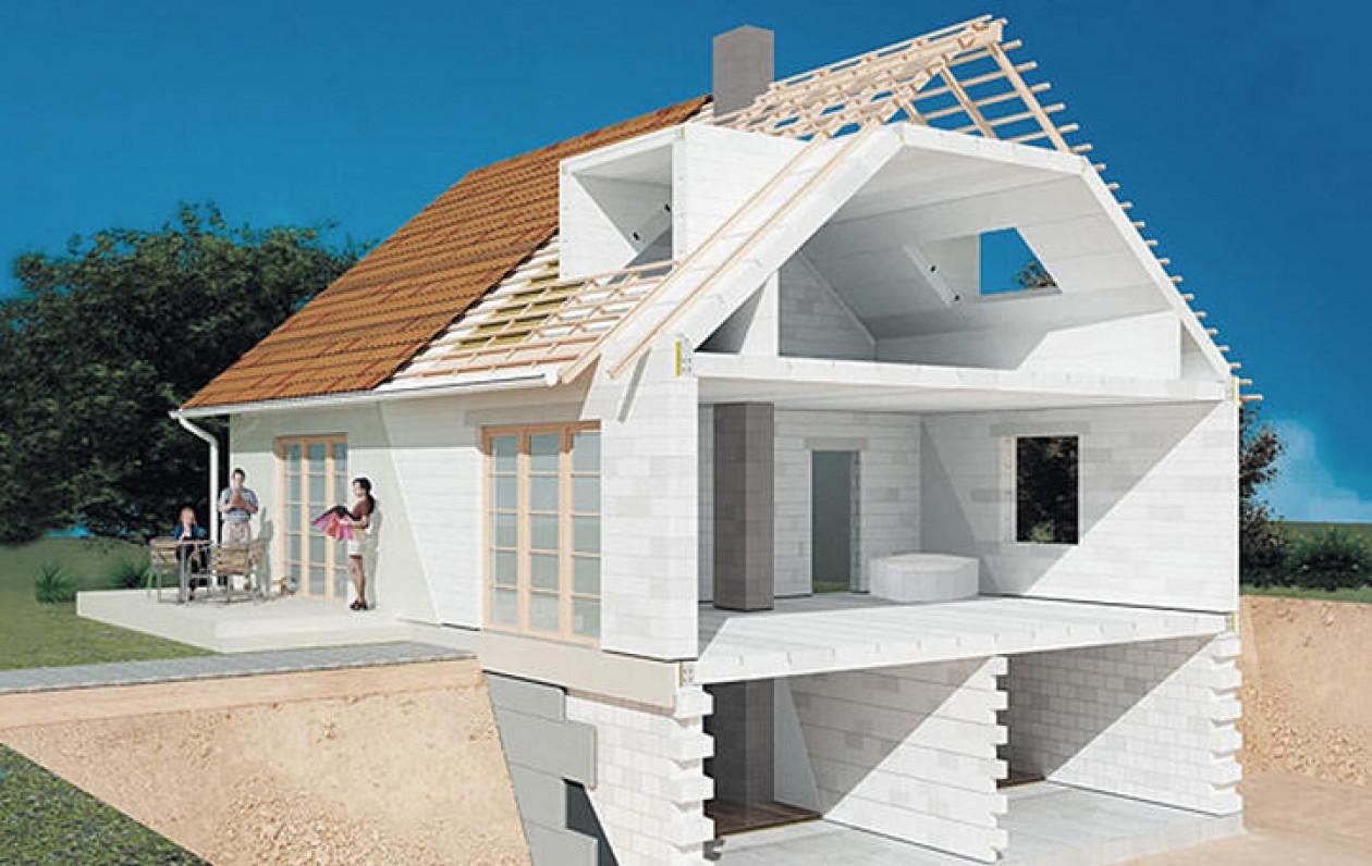 Газобетон при будівництві будинку
