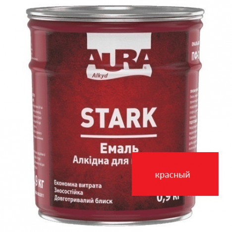 Емаль алкідна AURA Stark (червоний) 0,9кг