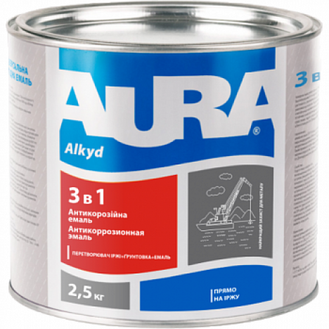 AURA Грунт-емаль 3 в 1 (зелена) 2,5кг