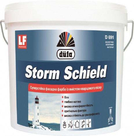 DÜFA Storm Schield суперстойкая фасадная краска с кварцевым песком (13.5кг)