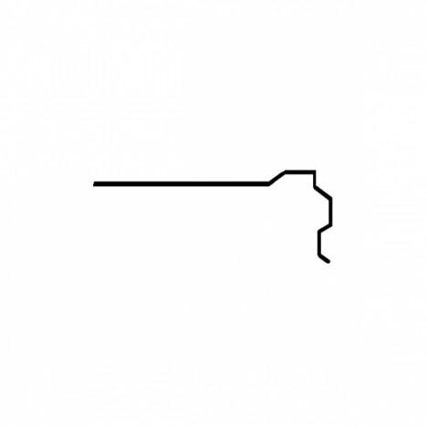 ПЛАНКА ПТ-2 (торцева) ЧЕРВОНА